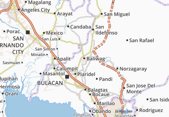 Mapa Plano Baliwag