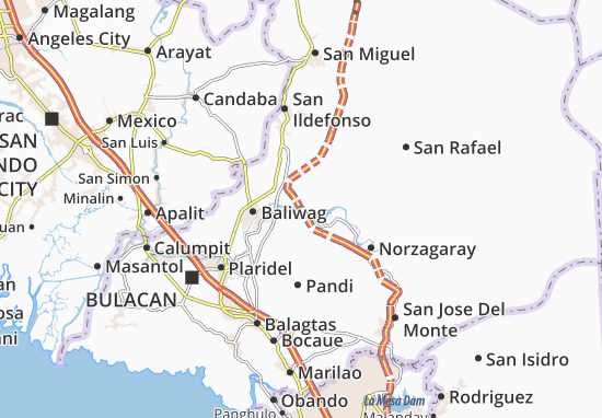 San Rafael Map Map of San Rafael   Michelin San Rafael map   ViaMichelin