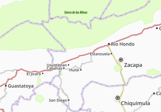 Teculutan Map