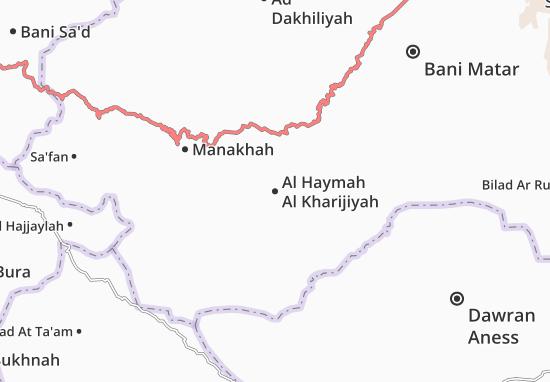 Carte-Plan Al Haymah Al Kharijiyah