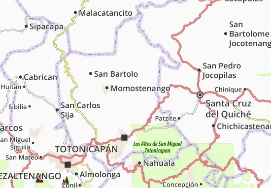 Carte-Plan Santa Maria Chiquimula