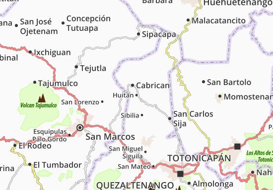 Kaart Plattegrond Huitan