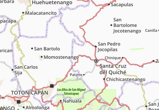 Carte-Plan San Antonio Ilotenango