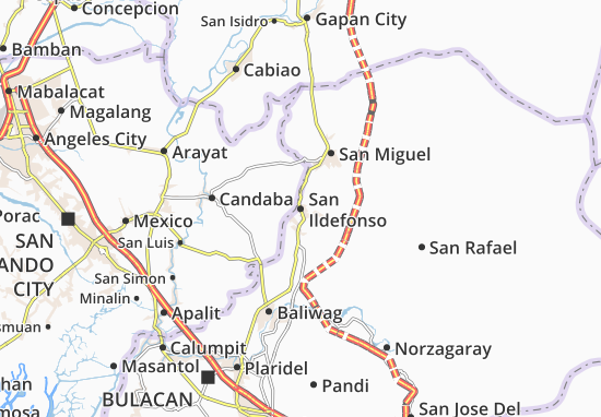 San Ildefonso Map