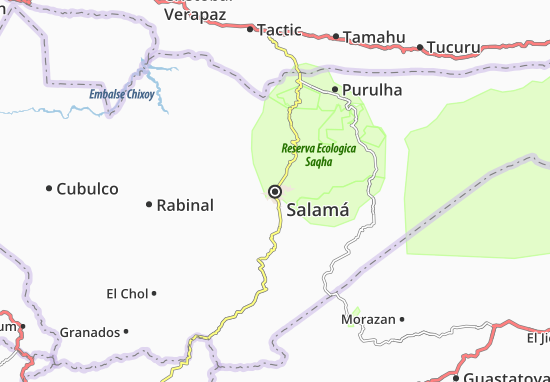 Carte-Plan Salamá