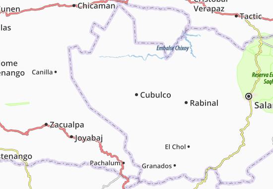 Karte Stadtplan Cubulco