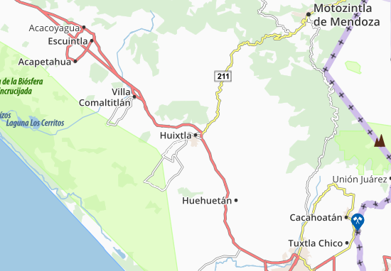 Huixtla Map