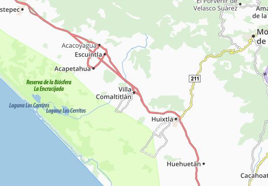 Carte-Plan Villa Comaltitlán