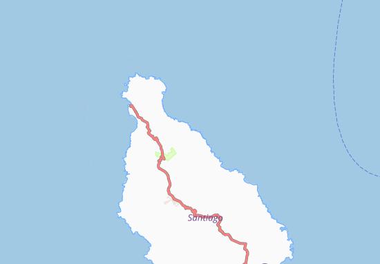 Carte-Plan Achada do Mangue