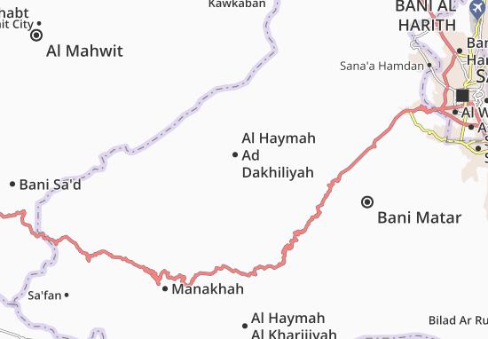 Carte-Plan Al Haymah Ad Dakhiliyah