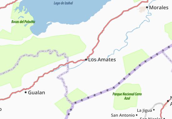 Los Amates Map
