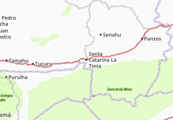 Carte-Plan Santa Catarina La Tinta