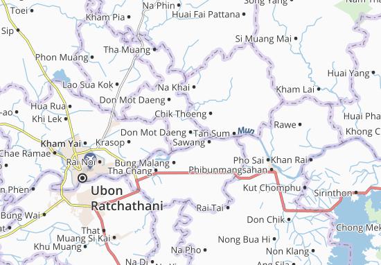 Kaart Plattegrond Don Mot Daeng