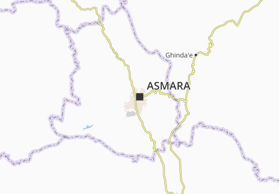 Carte-Plan Asmara