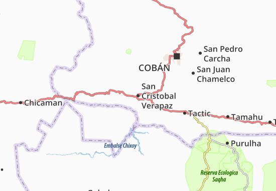 Carte-Plan San Cristobal Verapaz
