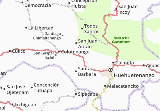 Carte-Plan San Sebastian Huehuetenango