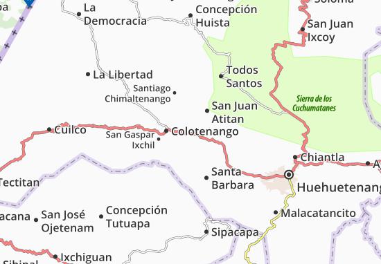 San Rafael Petzal Map
