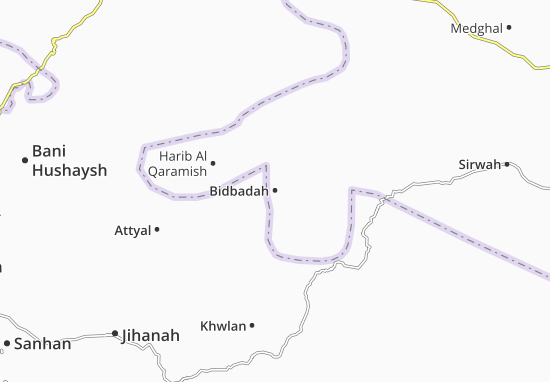 Bidbadah Map