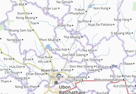 Kaart Plattegrond Lao Sua Kok