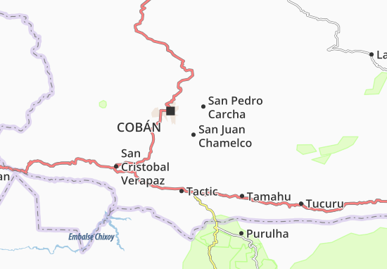 San Juan Chamelco Map