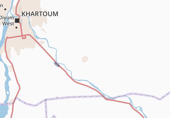 Carte-Plan Umm Dubban