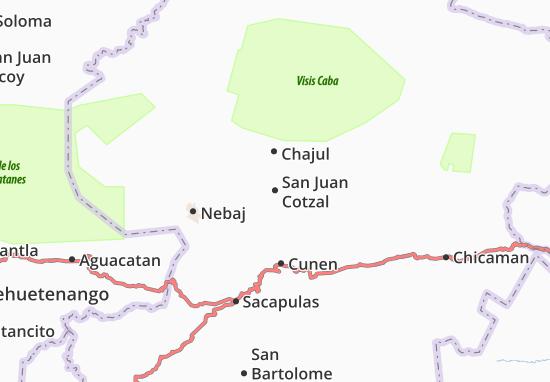 Carte-Plan San Juan Cotzal