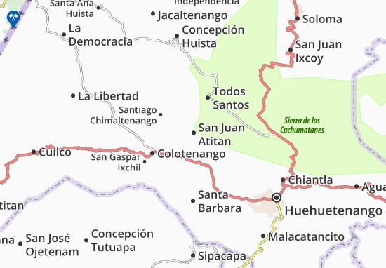 San Juan Atitan Map
