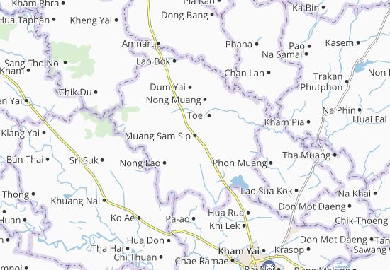 Mapas-Planos Muang Sam Sip