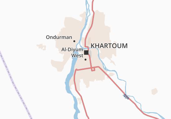 Carte-Plan Al-Diyum West
