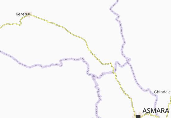 Carte-Plan Amba Derkho d Anseba