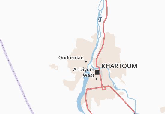 Carte-Plan Omdurman Light Industrial Area