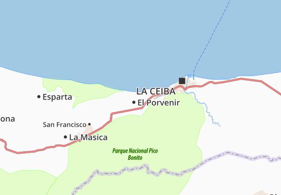 El Porvenir Map