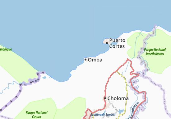 Mapa Plano Omoa