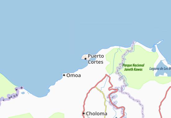 Kaart Plattegrond Puerto Cortes