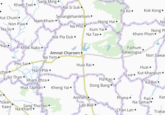 Amnat Charoen Map