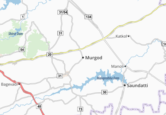 Murgod Map