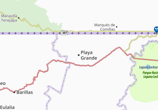 Playa Grande Map