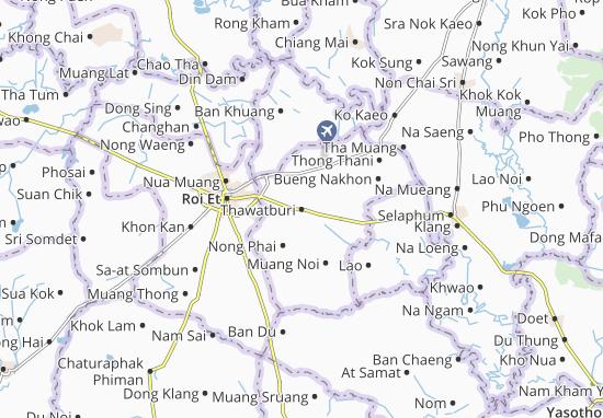 Kaart Plattegrond Thawatburi