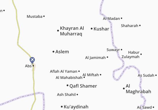 Carte-Plan Aflah Ash Shawm
