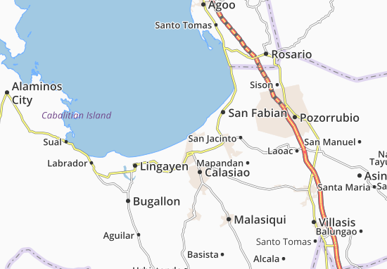 Map of Bonuan Gueset - Michelin Bonuan Gueset map - ViaMichelin