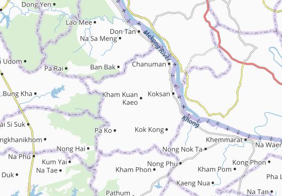 Carte-Plan Kham Kuan Kaeo