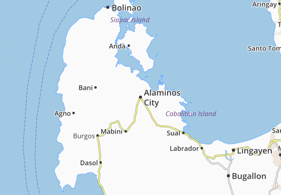 Carte-Plan Alaminos City