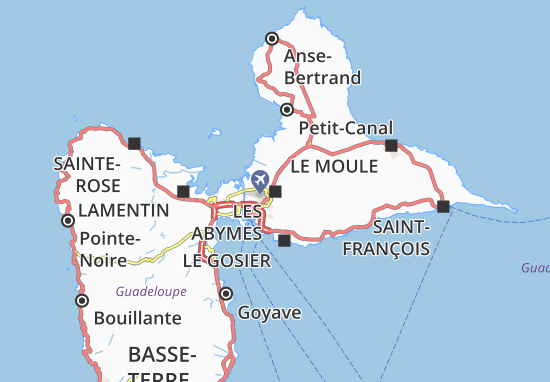 Les Abymes Map