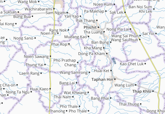 Carte-Plan Pho Prathap Chang
