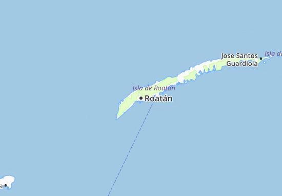 Mapa Plano Roatán