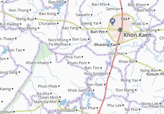 Kaart Plattegrond Phra Yun