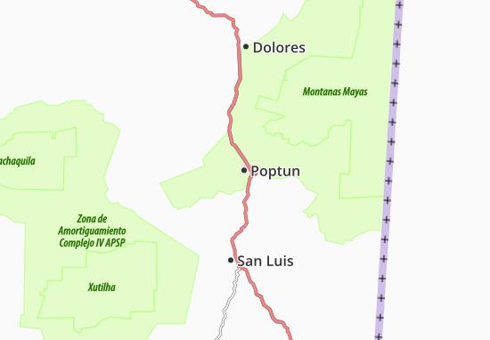 Carte-Plan Poptun