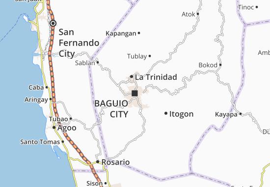 Map Of Baguio City Michelin Baguio City Map ViaMichelin - Baguio map