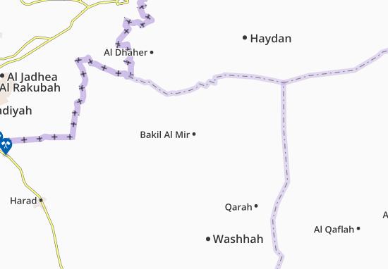 Bakil Al Mir Map