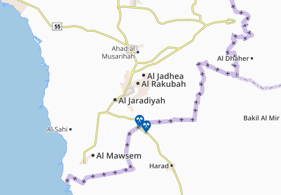 Carte-Plan Al Khadra